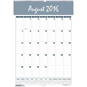"2016-2017 House of Doolittle, Bar Harbor Academic Wall Planner, 22"" x 31.25"", Yearly, Blue/Gray (354-17)"