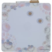 "Cynthia Rowley  Magnetic Dry-Erase Board, 12"" x12"", Cosmic White Floral"