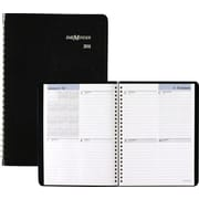 "2016 DayMinder® Weekly Wirebound Planner, 6 7/8"" x 8 3/4"", Black, (G5350016)"