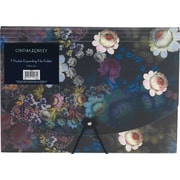 Cynthia Rowley7-pocket expanding file, Cosmic Black Floral