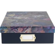 Cynthia Rowley Document Box, Gilded Gold Floral