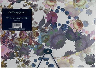 Cynthia Rowley 7 pocket expanding file Cosmic White Floral