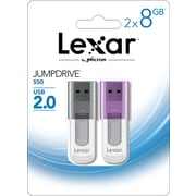 Lexar Jumpdrive S50 8GB USB 2.0 flash drive 2 pack