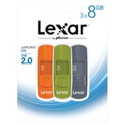 Lexar Jumpdrive S70 8GB USB 2.0 Flash Drive 3 pack