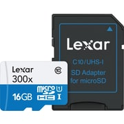 Lexar Micro SDHC 16GB HS 300X