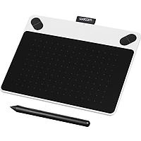 Wacom Intuos Draw Digital Drawing and Graphics Tablet (White) - Refurbished