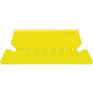 Staples® Plastic Tabs, Yellow, 2