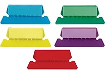 Staples® Plastic Assorted Tabs, 2' x 5/8', 50/Pack