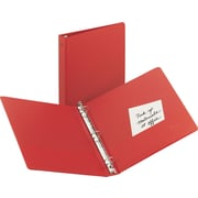 "Avery(R) Economy Binder with 1"" Round Ring 3310, Red"