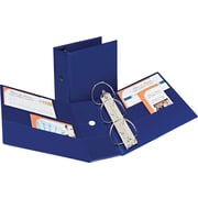 "Avery(R) Durable Binder with 5"" Two Booster EZD(TM) Rings 7900, Navy Blue"