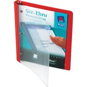 "Avery(R) See-Thru(TM) Binder with 1/2"" Round Ring 10803, Red"