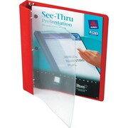 "Avery(R) See-Thru(TM) Binder with 1"" Round Ring 10853, Red"
