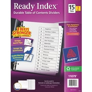 Avery(R) Ready Index(R) Table of Contents Dividers 11079, 15-Tab, 3 Sets