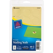 "Avery(R) Printable Gold Metallic Mailing Seals 5590, 1"" Round, Pack of 240"
