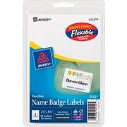 "Avery(R) White Adhesive Name Tags 5152, 2 1/3"" x 3 3/8"", Pack of 40"
