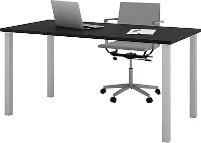 Bestar 30 x 60 Table with square metal legs in Black