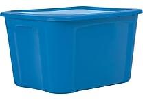 Staples 18 Gallon Plastic Flat Lid Tote (28763)