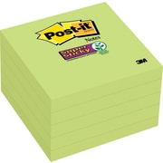 "Post-it® Super Sticky Notes, 3"" x 3"", Limeade, 5 Pads/Pack (654-5SSLE)"