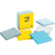 "Post-it® Super Sticky 3"" x 3""  New York Color Notes, 5 Pads/Pack"