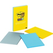 "Post-it® Super Sticky 4"" x 6"" New York Color Notes, 3 Pads/Pack"
