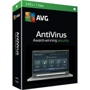 AVG AntiVirus 2016, 1 Year for Windows (1-3 Users) [Boxed]