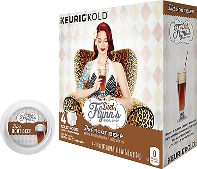 Keurig KOLD Flynn s Diet Root Beer 8 oz 4 pack