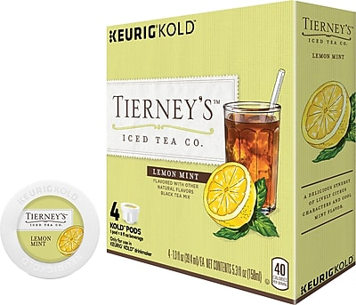Keurig KOLD Tierney s Iced Tea Co. Lemon Mint 8 oz 4 pack