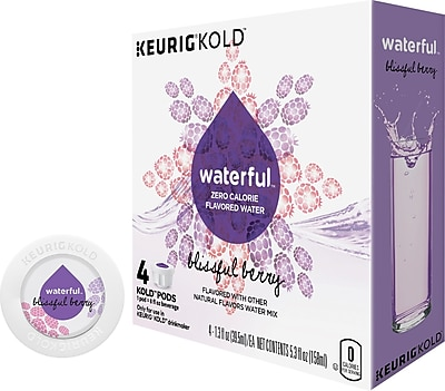 Keurig KOLD Waterful Blissful Berry 8 oz 4 pack