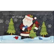 "Apache Mills Fashionables Holiday Doormat, Chalk Board Santa Design, 18"" x 30"" (796-6473)"