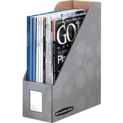 Staples Woodgrain or Water Drop Magazine File Storage