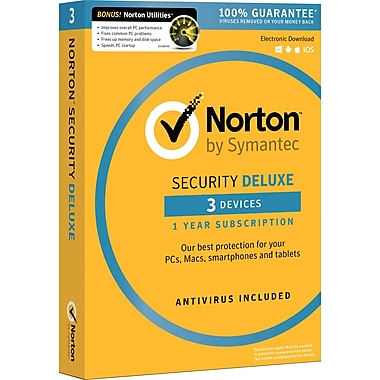 Norton Security Deluxe 3 Devices With Norton Utilities