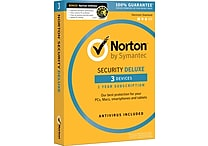 Norton Security Deluxe - 3 Devices with Norton Utilities (1 User) [Boxed]
