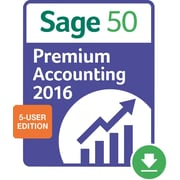 Sage 50 Premium Accounting 2016 US for Windows (1-5 Users) [Download]