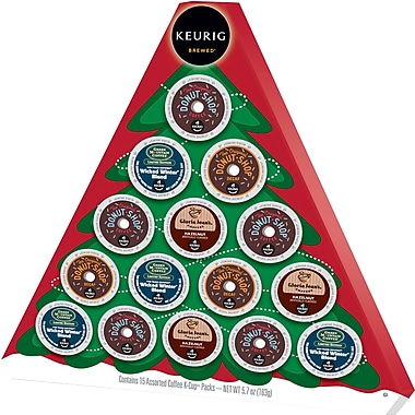 Keurig® Holiday Tree Gift Box, K-Cup, 15 Count