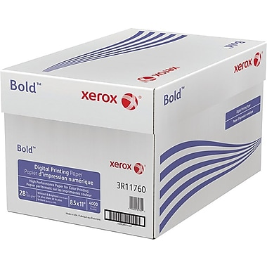 "Xerox® Bold™ Digital Printing Paper, 28 lb. Text, 8 ½"" x 11"", Case"