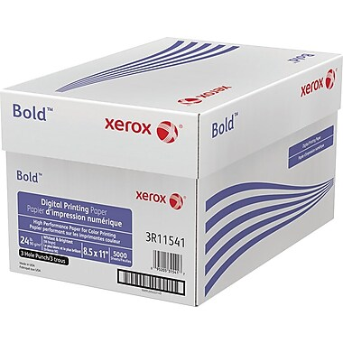 "Xerox® Bold™ Digital Printing Paper, 24 lb Text., 8 ½"" x 11"" 3HP, Case"
