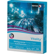"Xerox® Vitality™ Multipurpose Printer Paper, 20 lb., 8 ½"" x 11"", 500 Sheet Ream"