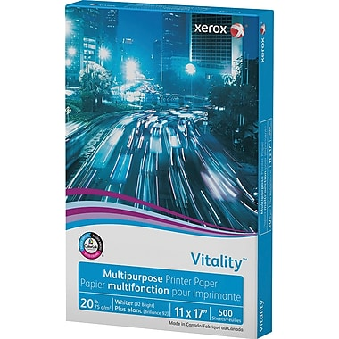 Xerox® Vitality™ Multipurpose Printer Paper, 20 lb., 11 x 17, Ream