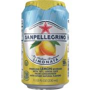 SANPELLEGRINO Sparkling Fruit Beverages, Limonata/Lemon 11.15ounce Can, 24/Pack