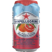 SANPELLEGRINO Sparkling Fruit Beverages, Aranciata Rossa/Blood Orange 11.15ounce Can, 24/Pack