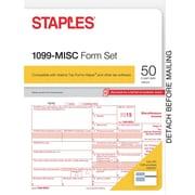 Staples 2015 Tax Forms, 1099-MISC Kit, Inkjet/Laser, 50/Pack