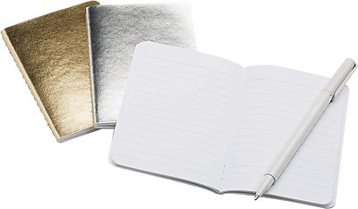 Poppin Mini Soft Cover Notebooks Metallic Assorted Set of 3 102239