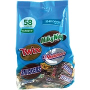 Milky Way, Twix, 3 Musketeers and Snickers Fun Size Variety Mix, 58 Pieces/Bag