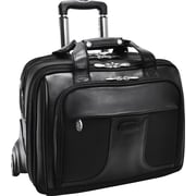 McKleinUSA Chicago 17 Detachable-Wheeled Laptop Overnight with Removable Brief, Black