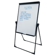 Staples® Easy Clean Dry Erase Footbar Folds-to-a-Table Pres. Easel, Black