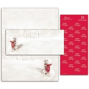 Great Papers® Holiday Kits Snowman In Red Scarf, 25/Count