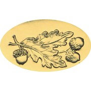 Great Papers® Holiday Seals Acorn Leaves Gold Foil , 30/Count