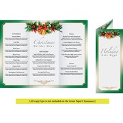 Great Papers® Holiday Program Golden Bells Tri-Fold Brochure , 25/Count
