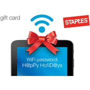 Staples® WiFi Password Gift Card $75