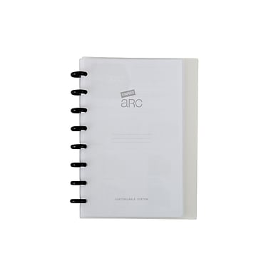 Staples® Arc Customizable Durable Poly Notebook System, Clear, 6 3/8